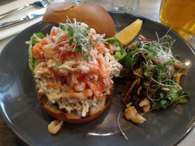 Open Crayfish Sandwich