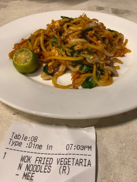 Noodle Wok fried vegetarían