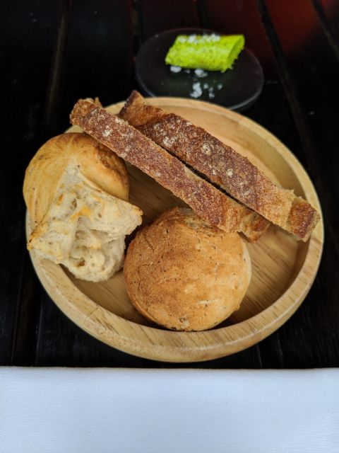 Cheese bread and chimichurri butter