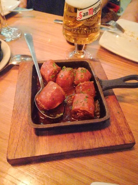 Chorizo with cider