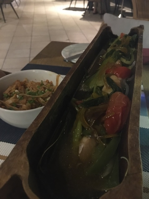 Ruby snapper cooked in bamboo