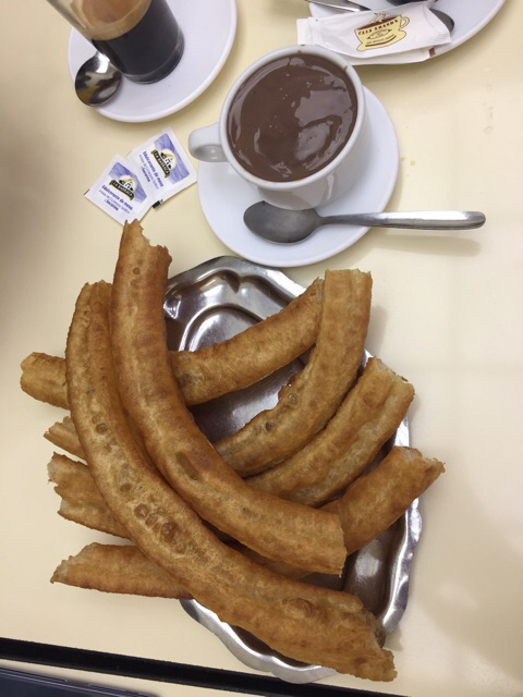 Tejeringos con chocolate
